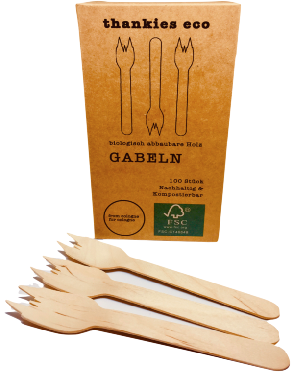 Wooden forks, box of 100pcs